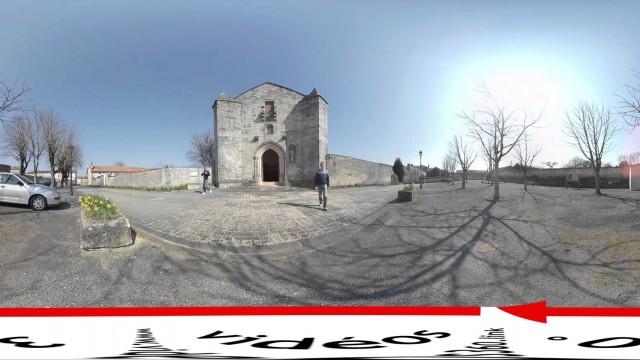 Vidéos en 360 ° : exemple de réalisation devant une église…
